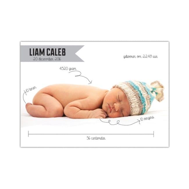 Geboortekaartje met Foto: Scribble - Ontwerp met knipoog
