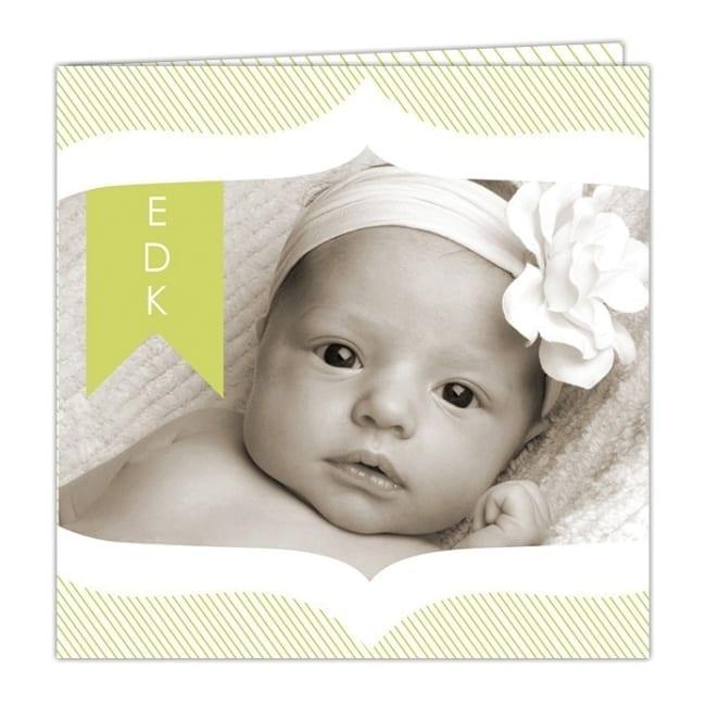 Geboortekaartje Vintage Foto - de mooie vintage omlijsting zet de focus op de foto