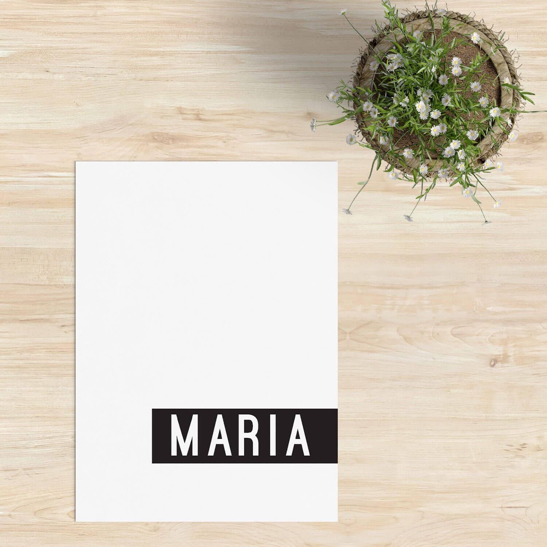 Met geboortekaartje Modern hebben we geprobeerd echt iets minimalistisch en abstracts te ontwerpen. Het zwart-wit contrast is de basis van het ontwerp.