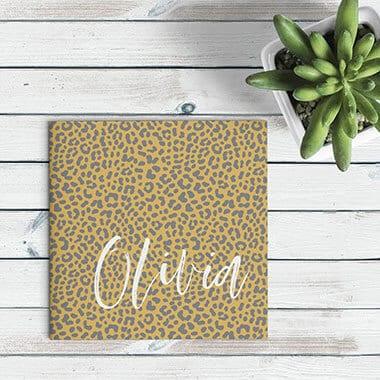 Geboortekaartjes met Panterprint - heel trendy
