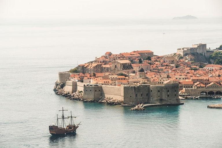 Game of Thrones locatie Dubrovnik. Voor blogpost over Name of Thrones, populaire babynamen uit Game of Thrones.