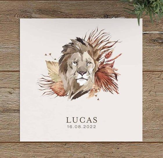 Mooie geboortekaartjes met leeuw